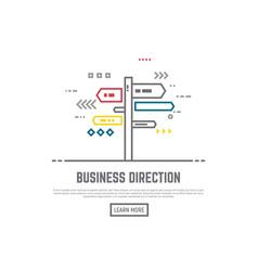 derection sign vector image