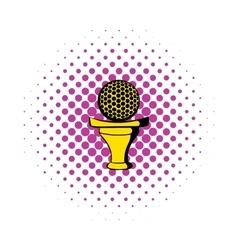Golf ball on a tee icon comics style vector image