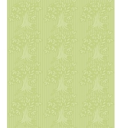 Green background with abstract tree vector image vector image