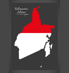 kalimantan selatan indonesia map vector image vector image