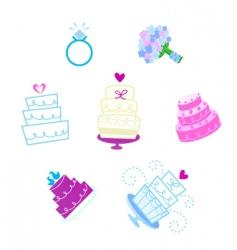 valentines day desserts vector image