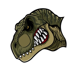 Angry T Rex Head vector image vector image