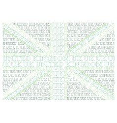 Green United Kingdom Text Flag vector image vector image