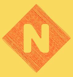 letter n sign design template element red vector image