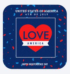 love america celebration background vector image vector image