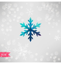 snowflake Abstract snowflake of geometric shapes vector image