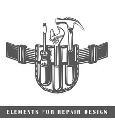 belt with tools vector image