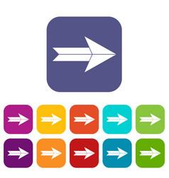big arrow icons set vector image
