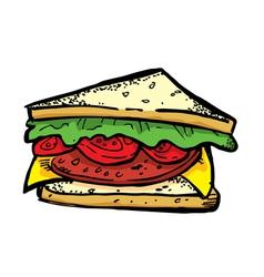 BLT sandwich vector image