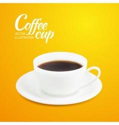 Cup of espresso vector image vector image