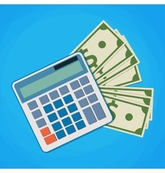 financial icon in flat style with money and vector image vector image