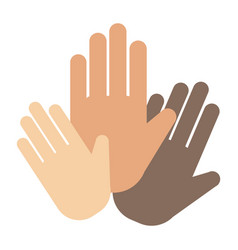 people hands showing greeting wrist direction vector image vector image