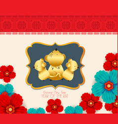 2020 chinese new year paper cutting year rat vector