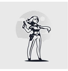 a female police officer vector image