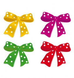 a set of colorful bows vector image
