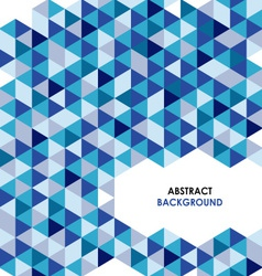 Abstract blue triangle background vector image