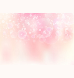 abstract pink blurred soft focus bokeh background vector image
