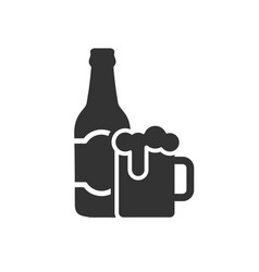 beer with bottle icon images vector image