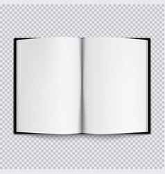 Black drawing album opened sketchbook vector