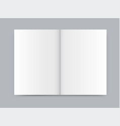 blank white newspaper mock up isolated on gray vector image
