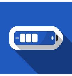 Blue information icon - battery medium vector
