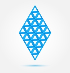 Blue symbol made triangles - abstract rhombus vector