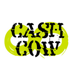 Cash cow sticker vector