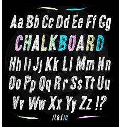 Chalkboard font hand draw alphabet vector