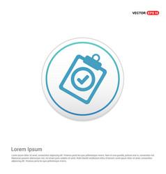 Check list icon - white circle button vector
