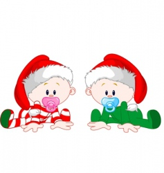 Christmas babies vector image