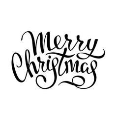 christmas decoration 2019 lettering vector image