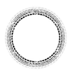 circle grunge gradient tire track vector image
