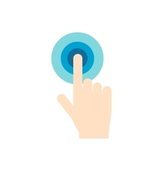 Click hand flat icon vector image