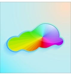 Colors greeting cloud background vector image