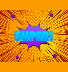 comic explosive light template vector image