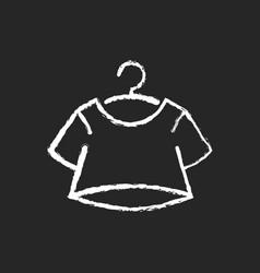 crop top chalk white icon on dark background vector image