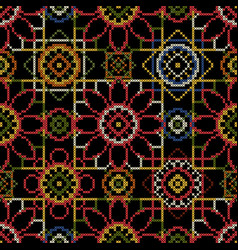 Cross stitch for decoupage vector