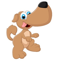 Cute dog posing vector