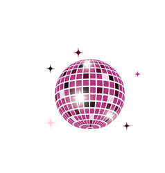 disco ball icon design vector image