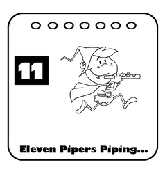 Eleven pipers piping cartoon vector
