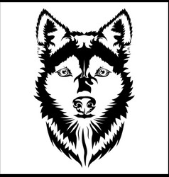Face dog vector
