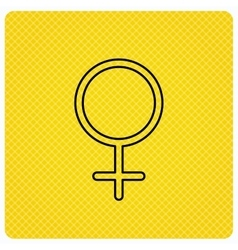 Female icon Women sex sign vector image