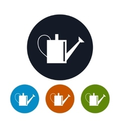 Four Types of Round Icons Watering Can vector