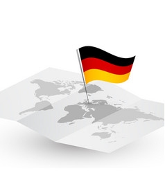 germany flag on abstract world map vector image