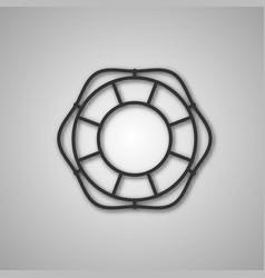 Gray icon lifebuoy vector