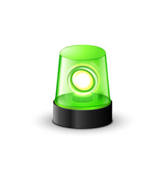 green flashing police beacon alarm police light vector image