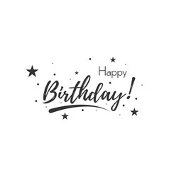 happy birthday banner typography greeting card vector image