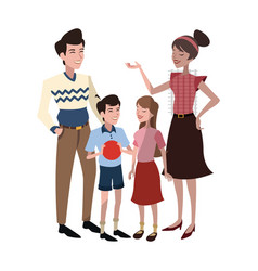 happy family cartoon icon vector image
