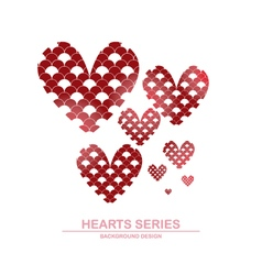 Heart series design I vector