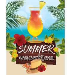 hello summer poster vector image